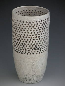 Ceramic Raku Vessel by Katherine Dube