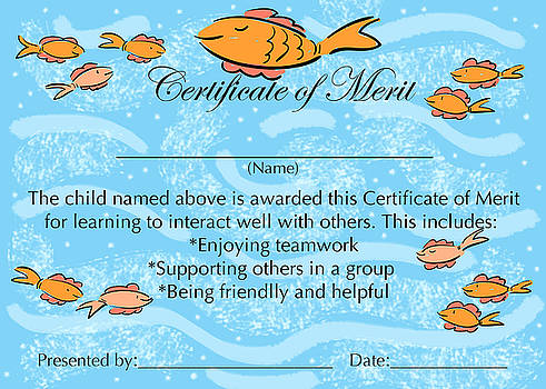 Certificate of Merit for Cooperation by Sally Huss