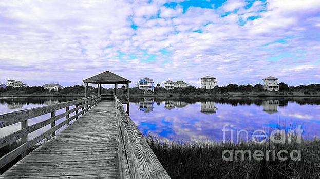 Cerulean Hues at Topsail Island by Kelly Nowak