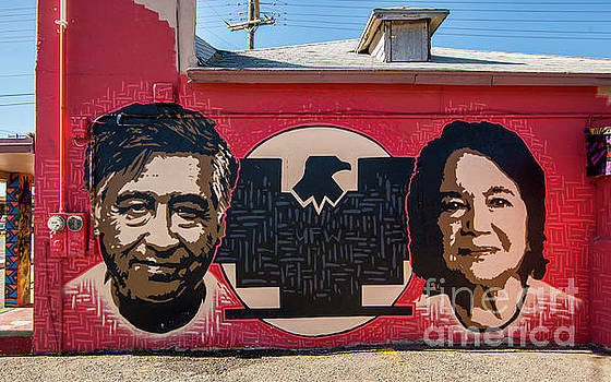 Cesar Chavez and Dolores Huerta Mural - Utah by Gary Whitton
