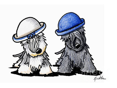 Cesky Terrier Derby Duo by Kim Niles