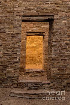 Chaco Canyon - Pueblo Bonito Doorways 3 - New Mexico by Gary Whitton