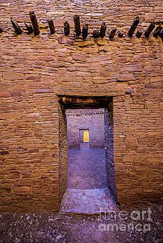 Chaco Canyon - Pueblo Bonito Doorways - New Mexico by Gary Whitton