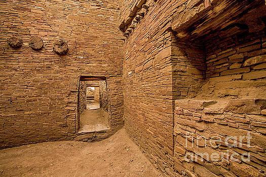 Chaco Canyon - Pueblo Bonito - Interior Room - New Mexico by Gary Whitton