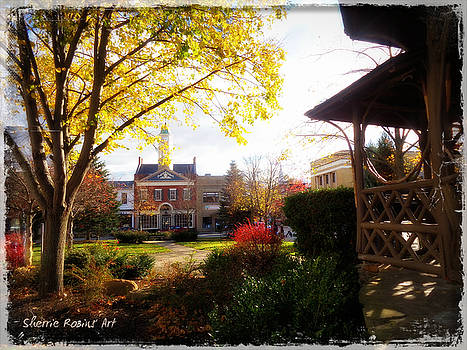 Chagrin Falls, town square by Sherrie Robins