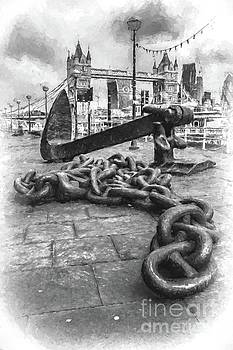 Chain and anchor, Southwark by Howard Ferrier