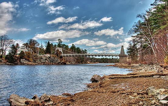 Chain Bridge on the Merrimack by Wayne Marshall Chase
