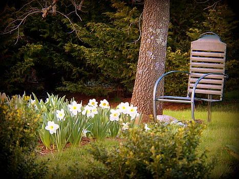 Chair in the Garden by Joyce Kimble Smith