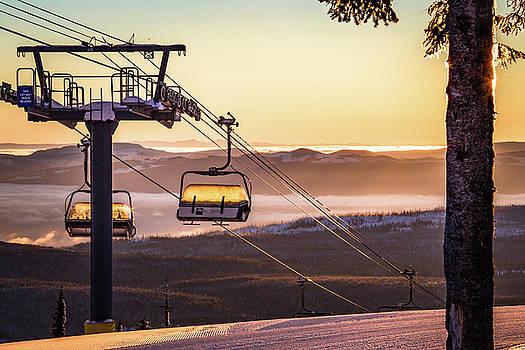 Chairlift Sunrise #2 by Sam Egan