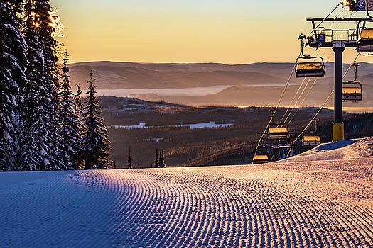 Chairlift Sunrise #3 by Sam Egan
