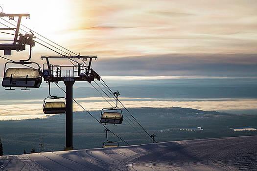 Chairlift Sunrise #4 by Sam Egan