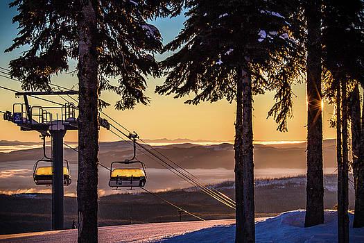 Chairlift Sunrise by Sam Egan