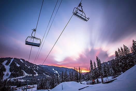 Chairlift Sunset by Sam Egan
