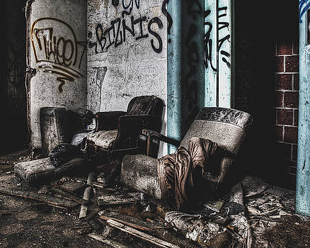 Chairs In Abandoned Building by Dylan Murphy