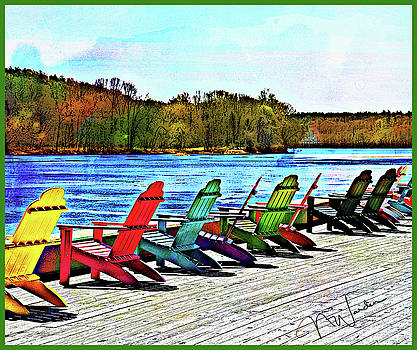 Chairs on the River by Norma Warden