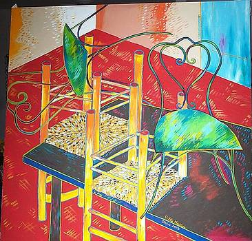 Chairs on the table  by Marilena  Pilla