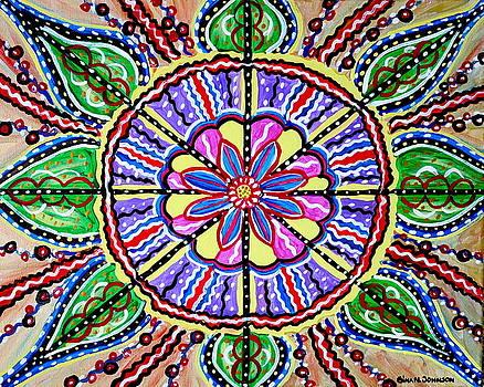 Chakra flower by Gina Nicolae Johnson