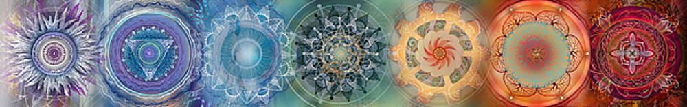 Chakras horizontal by Brenda Erickson