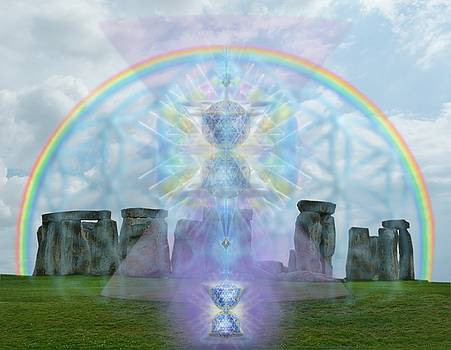 Chalice Over Stonehenge in Flower of Life by Christopher Pringer