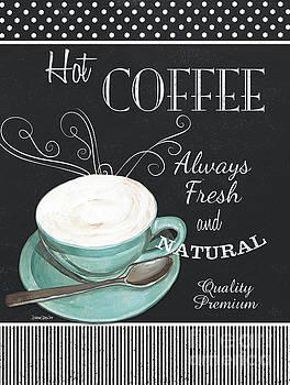 Chalkboard Retro Coffee Shop 1 by Debbie DeWitt