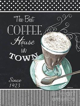 Chalkboard Retro Coffee Shop 2 by Debbie DeWitt