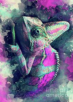 Chameleon Art by Justyna JBJart