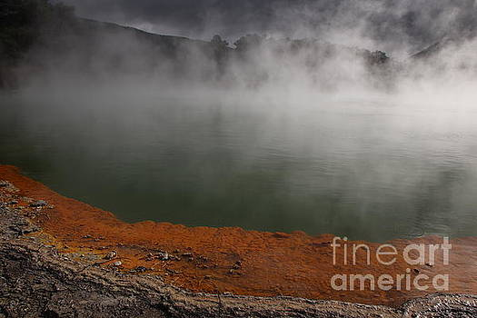 Champaign Lake Steam by Marisa Meisters