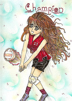Champion Volleyball by Shelby Davis