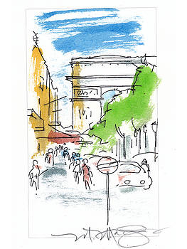 Champs Elysee Paris by Marilyn MacGregor