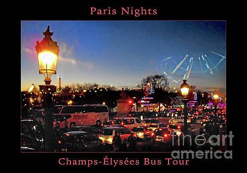 Felipe Adan Lerma - Champs Elysees Bus Tour Poster