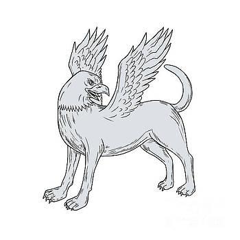 Chamrosh Side Drawing by Aloysius Patrimonio