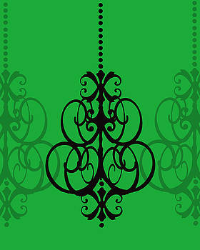 KayeCee Spain - Chandelier Delight 1- Green Background
