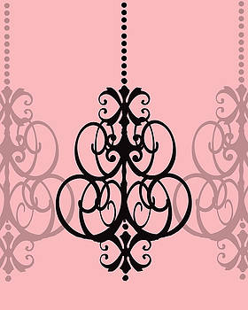 KayeCee Spain - Chandelier Delight 1- Pink Background