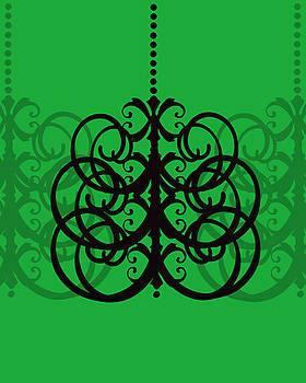 KayeCee Spain - Chandelier Delight 2- Green Background