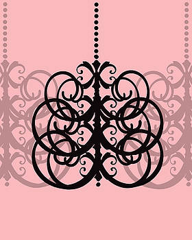 KayeCee Spain - Chandelier Delight 2- Pink Background