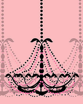 KayeCee Spain - Chandelier Delight 3- Pink Background