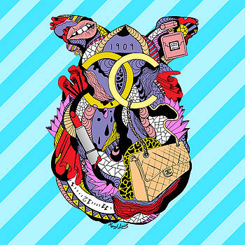 Chanel Abstract Fashion by Kenal Louis