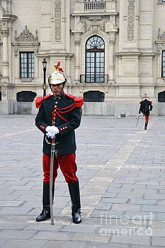 Changing of the Guard in Lima Peru by Catherine Sherman