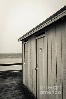 Changing rooms at the beach by Edward Fielding