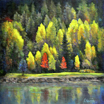 Changing Season by the Lake by Eileen  Fong