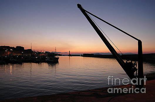 Chania Harbour by Simon Pocklington