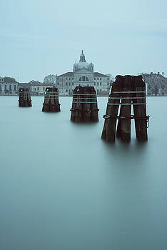 Channel Markers, Venice, Italy by David Stanley