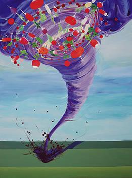 Chaos Theory-Radish Tornado by Marcie Ann Long