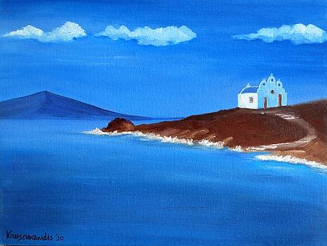 Chapel at Pyrgi by Kostas Koutsoukanidis