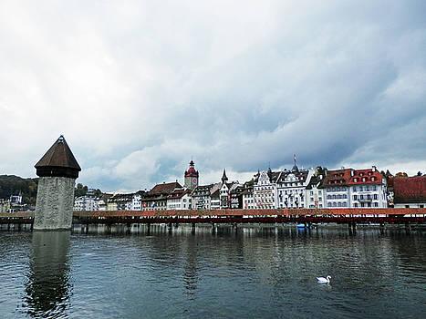 Chapel Bridge in Lucerne by Pema Hou