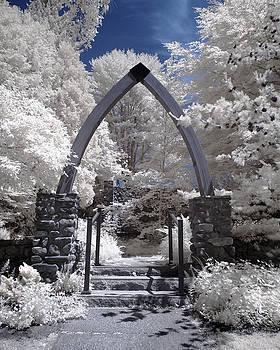 Chapel in the Woods - Infrared by Joann Vitali