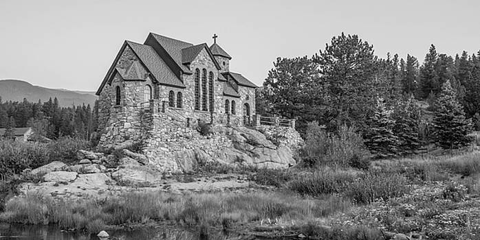 Chapel On The Rock In Black And White by Michael Putthoff