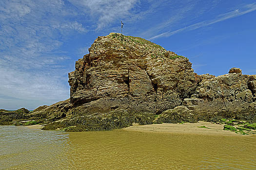 Chapel Rock - Perranporth Beach by Rod Johnson