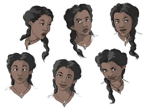 Character Expression Sheet by Jennifer Soriano