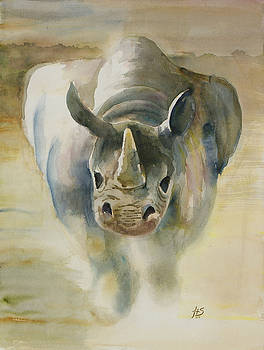 Charging Rhino by Jean Turner Smith